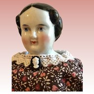 German, Flat Top China Doll