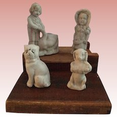 Miniature, German, Stone Bisque Figurines
