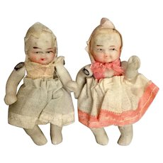 Japanese, All Bisque, Miniature Babies