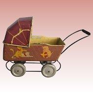 Metal, Miniature Baby Buggy