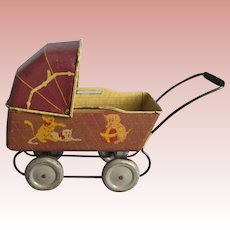 Metal, Miniature Baby Buggy