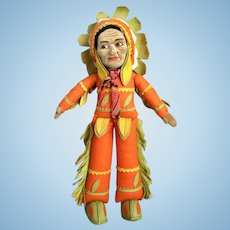 Norah Wellings Cloth Indian Doll