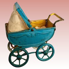 Miniature Metal Baby Buggy