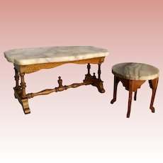Schneegas Marble End Table/ Dining Table