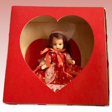 Nancy Ann Hard Plastic Valentine