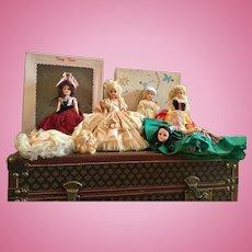 Group of Hard Plastic Dolls