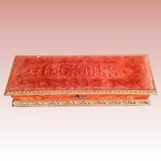 Victorian, Wood/ Velvet, Necktie Box
