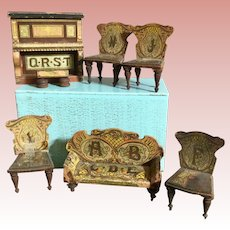 Bliss Dollhouse Parlor Set