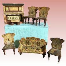Bliss Dollhouse Parlor Set