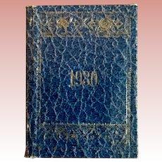 Miniature Leather Date Book