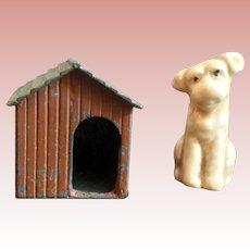 Miniature Dog House and Dog