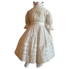 Antique, White Victorian Doll Dress