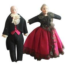 Pair of Kestner Dollhouse Dolls