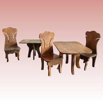 Cass Dollhouse Tables and Chairs