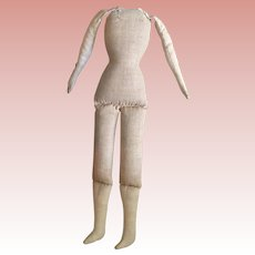 Cloth Body For Papier Mache or China Head