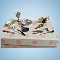Assorted Miniature Metal Dollhouse Accessories