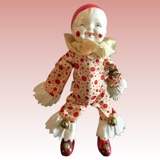 Celluloid Winded Up Clown Toy
