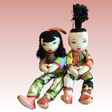 Cloth Oriental Dolls