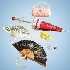 Vintage Umbrella and Accessories