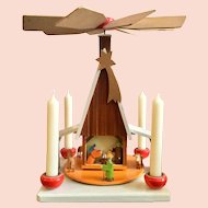 Mid Century, German, Nativity Candle Carousel