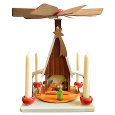 Mid Century, German, Nativity Candle Carousel