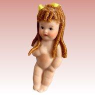Miniature, All Bisque, Artist Doll