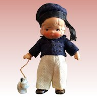 Miniature,German, Painted Bisque Boy