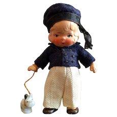 Miniature,German, Painted Bisque Boy