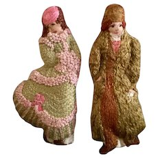 Artist Made Cloth Embroidered Dolls