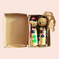Oriental Stacking Wood Dolls