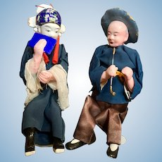 Pair of Chinese Character Dolls