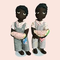 Pair of Black Character Brothers