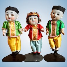 Bisque Head, Chinese Dolls