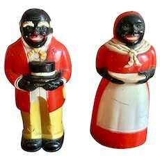 Plastic Aunt Jemima & Uncle Mose Salt and Pepper