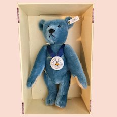Large Steiff Blue Bear Club Edition 1994-95