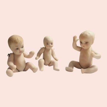 Artist, All Bisque,Miniature, Dollhouse Doll Babies