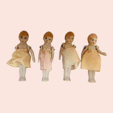 Miniature, All Bisque, Japanese Girls
