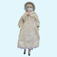 Large Hertwig Bonnet Head Parian Doll