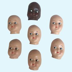 Plastic Coated Mask Faces to make dolls