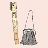 Silver and Pot Metal Doll Purse