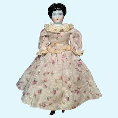 Hertwig Low Brow China Head Doll