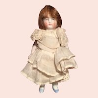 German All Bisque Girl Doll