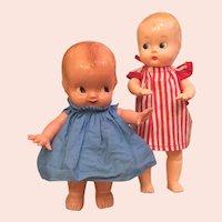 Pair of Hard Plastic Dolls