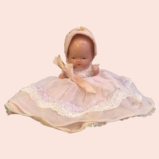 Painted Bisque Nancy Ann Storybook Baby white painted shoes