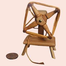 Miniature Wood Yarn Winder