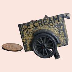 Miniature Ice Cream Wagon