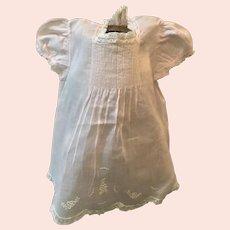 Dreamy pink organdy baby dress