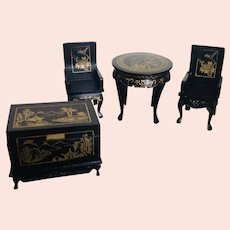 Japanese Black Lacquer Furniture