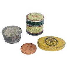 Three Miniature Tins/ Store Stock