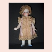 All Bisque Glass Eye Doll